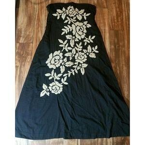 JOYSTICK strapless embroidered dress